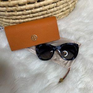 Tory Burch Blue Tortoise Shell Sunglasses